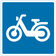 Anbefalet rute for knallert - Oplysningsskilte - Hurtig levering