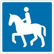 Anbefalet rute for ridende - Find skilt hos Kombi-Skilte