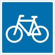 Anbefalet cykelrute - Oplysningstavle - Kombi-Skilte