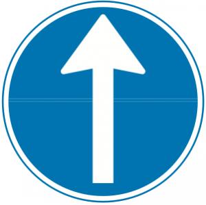 Påbudt kørselsretning frem