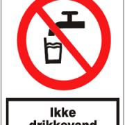 Ikke drikkevand forbuds skilt