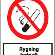 Rygning forbudt forbuds skilt