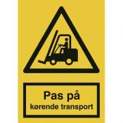 Pas på kørende transport