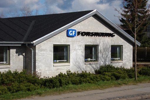 Facadebogstaver GF Forsikring