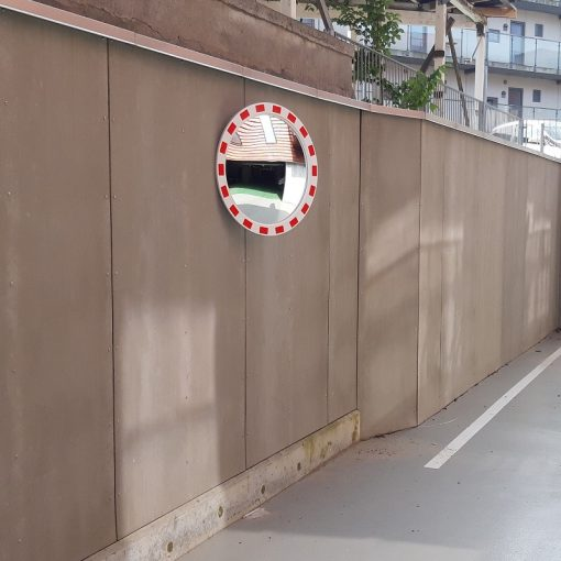 Trafikspejl rundt m/kant
