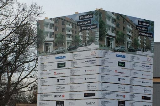Byggepladsskilte Boligkontoret Århus