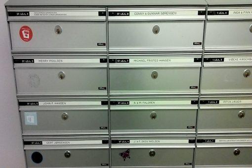 Øvrige dørskilte postkasser