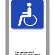 Handicapskilt til galge 50x50