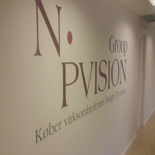 Folie på væg NP Vision