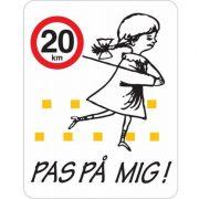 Legende børn/fartbegrænsnings skilte