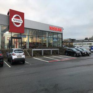 Vejstriber og symboler Nissan parkeringsbåse
